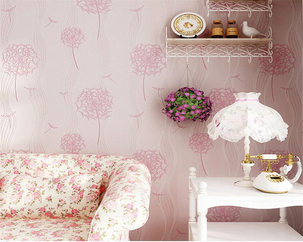 Beibehang Home decoration wallpaper modern fashion living room bedroom wallpaper dandelion children room 3d wallpaper roll