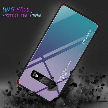 Color Case For Samsung Galaxy S10 S10e A9 A7 A8 A6 Plus 2018 A7 A5 2017 J8 J4 J6 Plus S9 S8 Plus Note 8 9 S Tempered Glass Cover 3