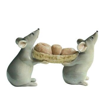 Tägliche Sammlung Harz maus mäuse ratte cartoon acton figur fee garten miniaturen Terrarium dekoration & Tabletop dekoration