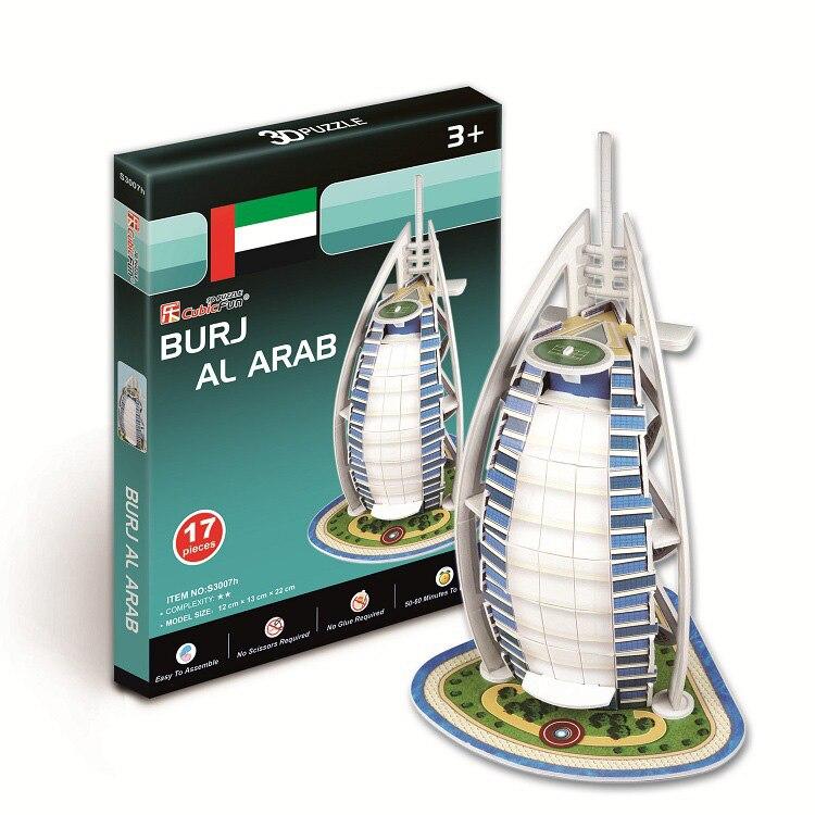 3D Puzzle World Building Paper Modelo dimensional montado Juguetes - Juegos y rompecabezas - foto 6