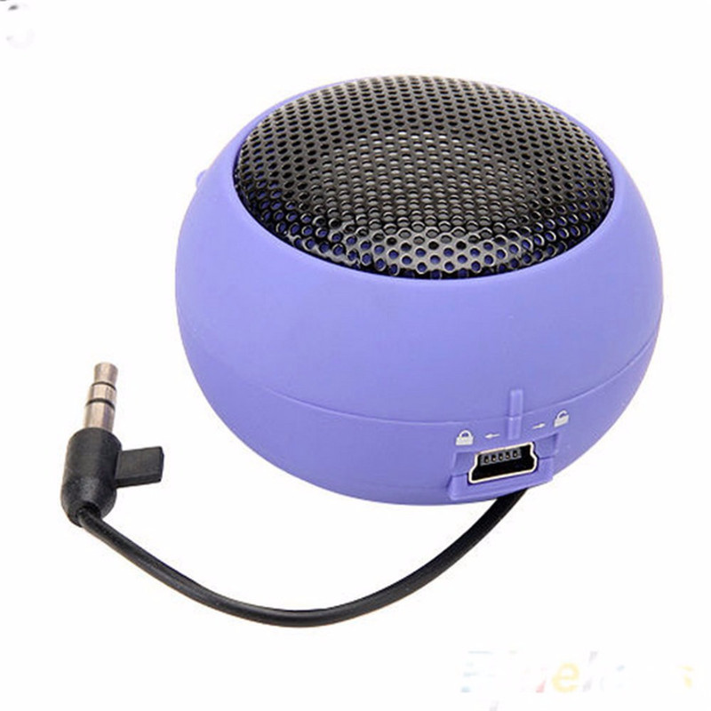 Mini Portable Super Bass Colum Speakers Spinner Musical Stereo Audio Music MP3 Player For Mobile Phone Tablet Hamburger Speaker