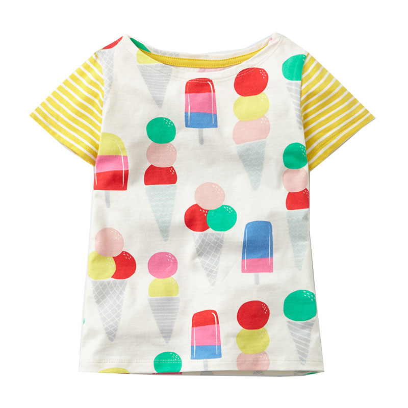 Baby Girls Clothes 2018 Brand Baby T-shirt Kids Clothing Animal Pattern Girls Summer Tops Tees 100% Cotton Children T shirts цена