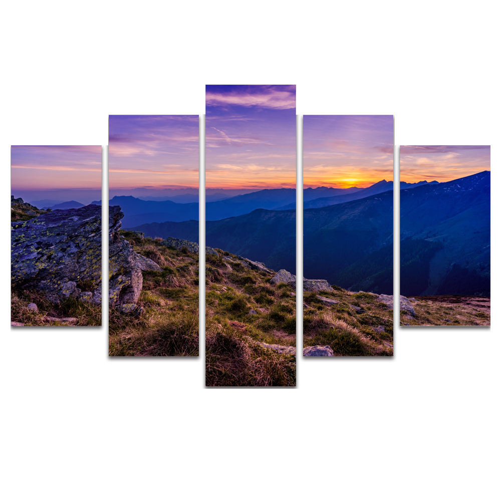 Unframed Canvas Painting Mountains Sky Sunlight Photo Picture Prints Wall Picture For Living Room Wall Art Decoration