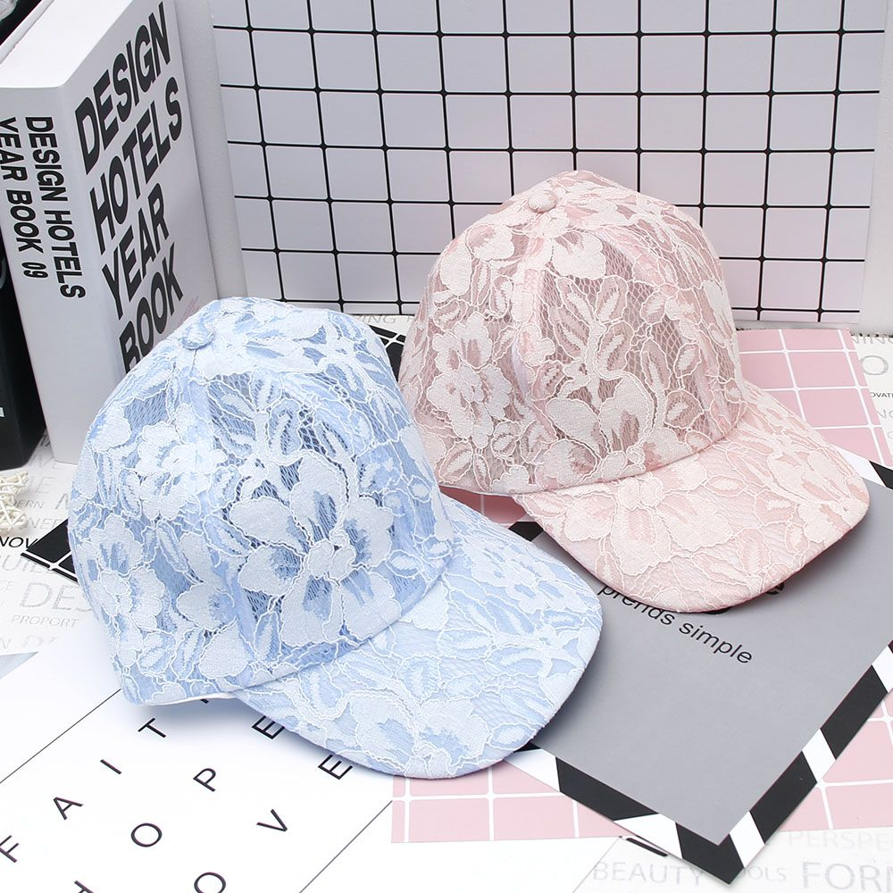 Women's   Baseball     Caps   Lace Sun Hats Breathable Mesh Hat Gorras Summer   Cap   Snapback Casquette Usual Occasion 1PC Fashion