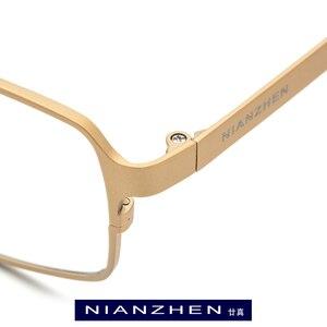 Image 2 - Oprawa okularów z czystego tytanu mężczyźni plac krótkowzroczność oprawki do okularów korekcyjnych okulary dla mężczyzn mężczyzna Vintage Ultra lekkie okulary FONEX 1183