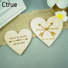 10PC Custom Personalized save the date Wooden wedding Heart favor DIY Bridal Shower Favor Tagwooden flora garland wedding tags 10pc tags door