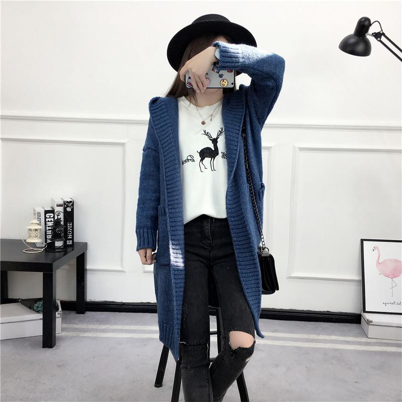 HTB189BKSVXXXXbaXFXXq6xXFXXXW - Women Long Knitted Sweater Coat Hooded Sweater Cardigans JKP039