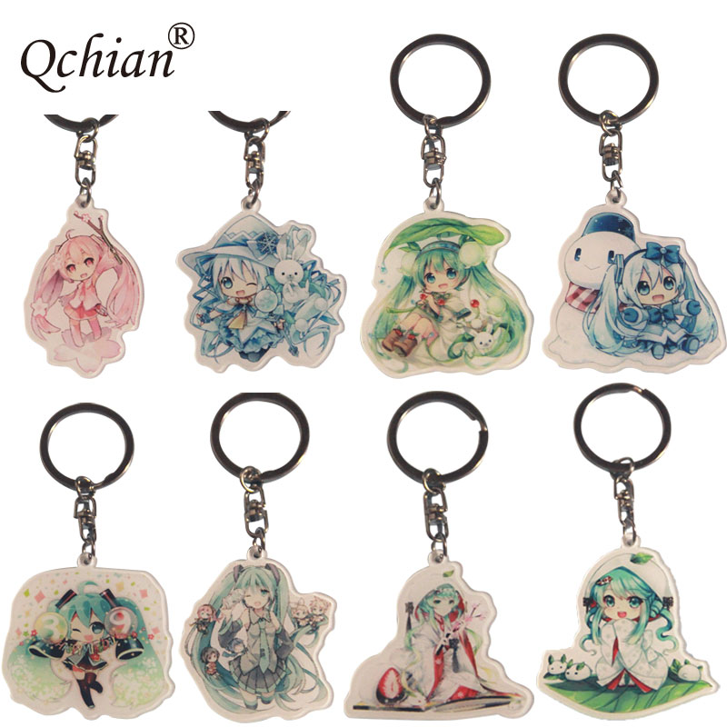 PVC Jewelry Eight Hatsune Future Beauty Image Pendant Keychain Automotive Backpack Decoration Accessories