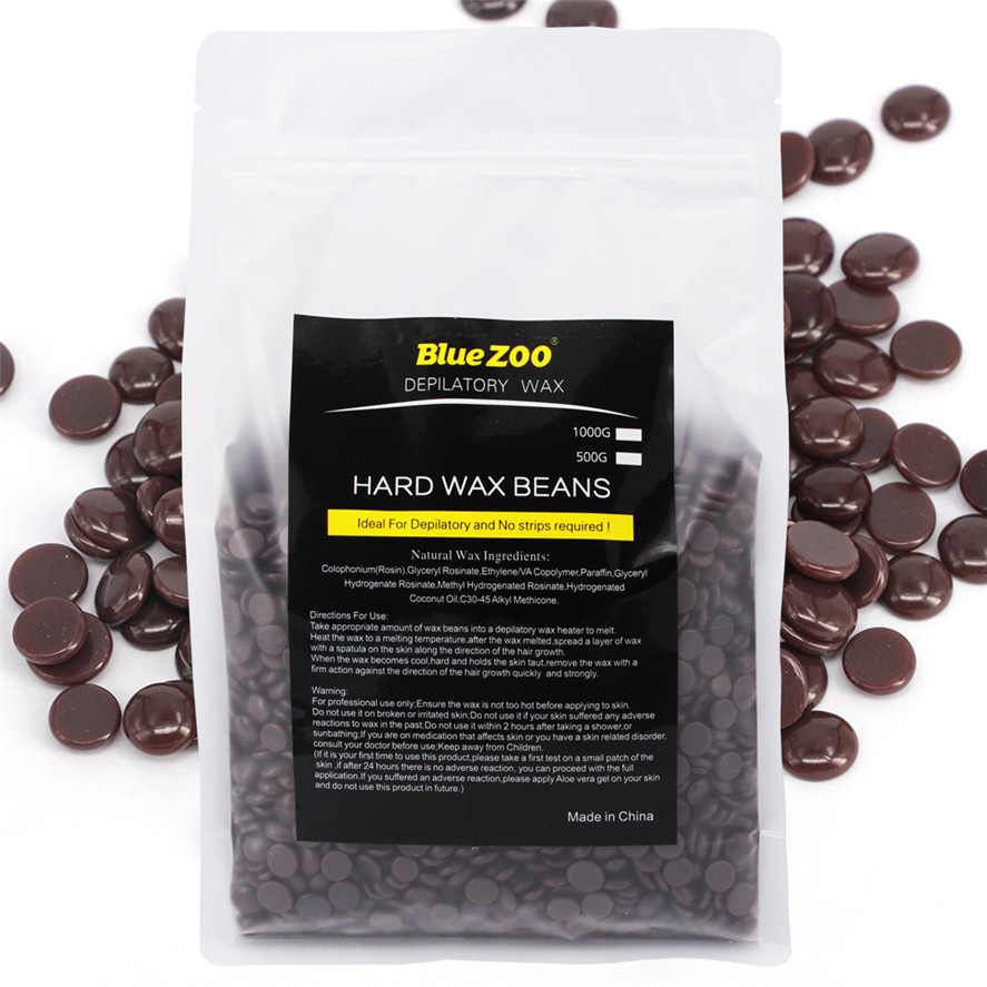 New 1000g Chocolate flavor Hair Removal Bean No Strip Depilatory Hot Film Hard Wax Pellet Waxing Bikini Wax for Depilation фигурки игрушки rubbabu бегемот из натурального каучука 9 см