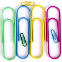 Papel de color de la mezcla clips lindo Clip accesorios de oficina estudiante papelería Gran Marcador de Metal 12 unids/lote 100mm
