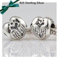 2014 Hot vente 925 Sterling argent colombe de paix oiseau Charms accessoires de bricolage pour européenne Bracelet collier 1 pc/lote VK0750