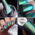 New Arrival 1Pc 10ml BP Green Chameleon Nail Multi Chrome Nail Gel UV Polish Varnish(Black Base Color Needed)