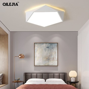 Ceiling Light geometry  lamp modern minimalist restaurant living room bedroom lamp Nordic style personality creative lamps