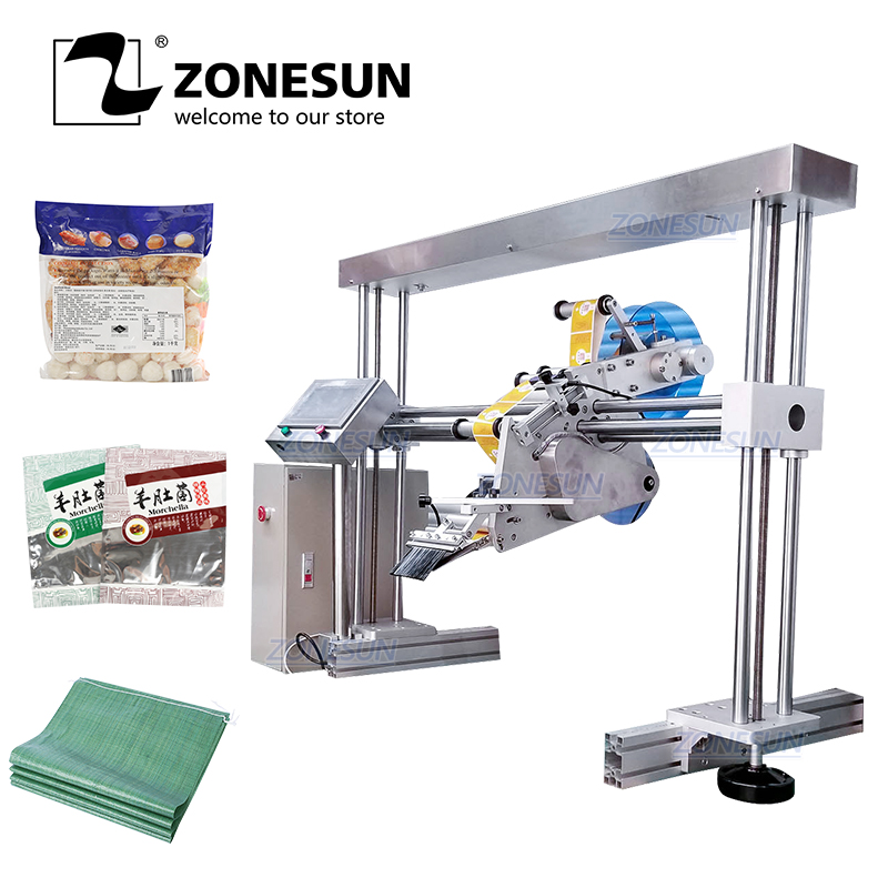 ZONESUN XL-T853 Automatic Flat Surface Cans Food Production Line Labeling Machine Label Applicator Square Bottle Sticker Labeler applicatori di etichette manuali