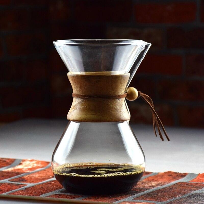 הגעה חדשה 3-6 כוסות נספר סגנון Chemex קפה Syphon מכונת קפה טפטוף קרח סיר בטפטוף