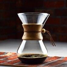 Новое поступление 3-6 Чашки Счетный сифон Кофе капельного ГОРШОК лед Капельное чайник Кофе Maker