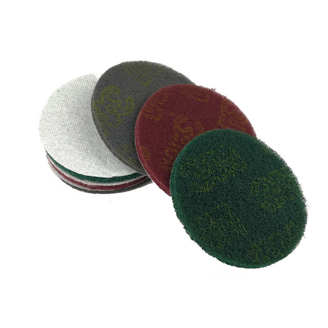 20 Pieces 5 Hook Loop Non Woven Abrasive Sanding Disc Coarse To Fine Quick Change Scour Pad