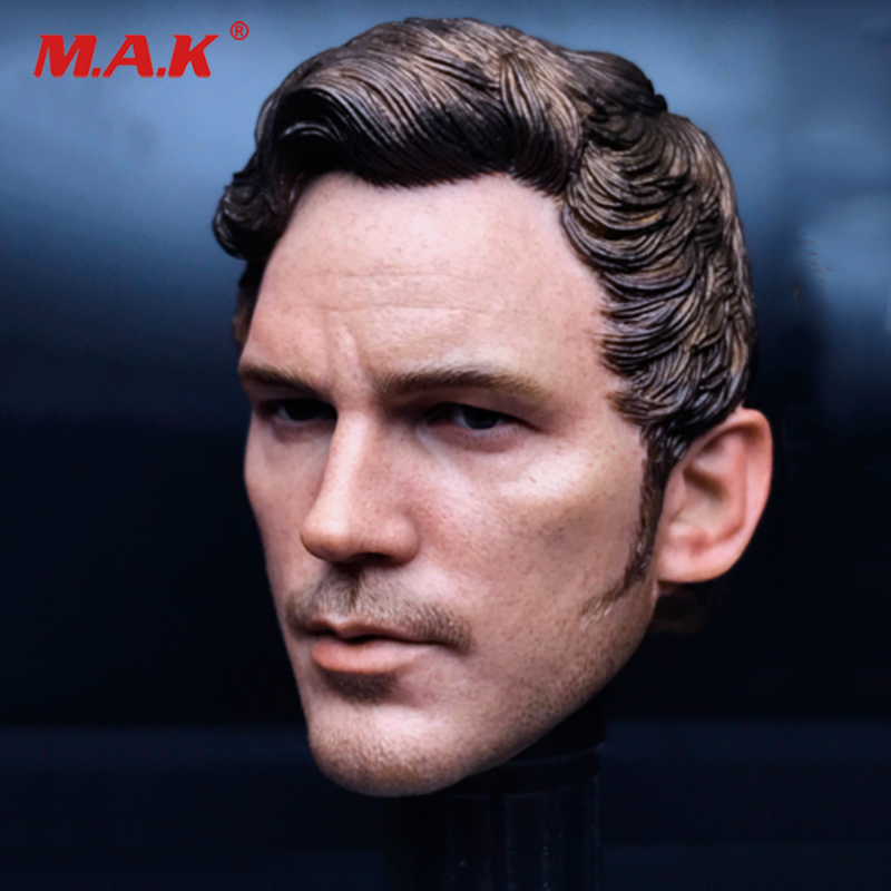 Hot Toys 1/6 The Avengers Star Lord 2.0 Chris Pratt head Sculpt Man Head Carving Fit for 12