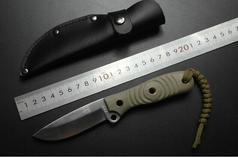 High quality all D32 steel straight knife hunting 63 HRC outdoor self-defense knife tactical army Survival knife EDC tools self defense security outdoor portable multifunctional attack tools diamond knife sharpening stone edc tools
