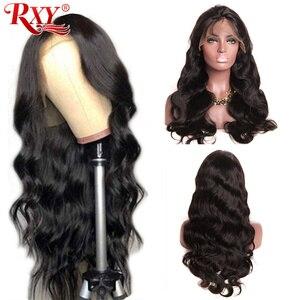 Image 1 - גוף גל תחרה מול שיער טבעי פאות לנשים שחורות PrePlucked קו שיער טבעי עם תינוק שיער RXY 13x4 ברזילאי רמי שיער פאה