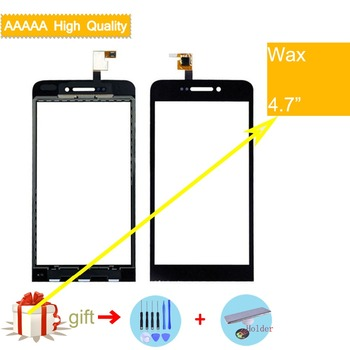 For Wiko Wax Touch Screen Panel Sensor Digitizer Front Outer Glass Touchscreen Wax Touch Panel Black Replacement цена 2017