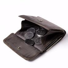 MS Retro Mode Männer Crazy Horse Real Leder Brieftasche Karte Geldhalter ID Münze Brieftasche Zufällige Farben Geldbörse Kostenloser Versand K836