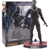 Marvel Comics Marvel Action Figure Black Panther Figure Divided We Fall Wakanda King Black Panther Toys Doll 31cm