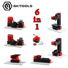 6 in 1 Mini Lathe Milling Drilling Wood Turning Jag Saw and Sanding Machine Mini Combined
