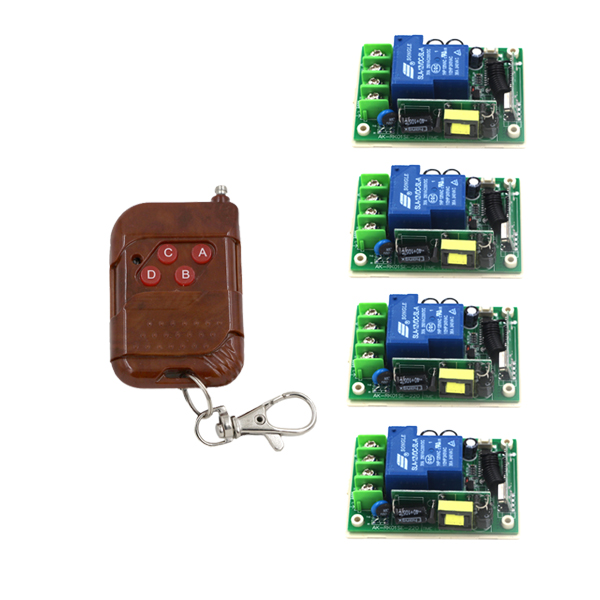 Smart Wireless Remote Control Switch, AC85-250V 110V 30A Relay Receiver, Self-lock Transmitter Receiver  SKU: 5173 85v 250v remote relay control switch 8ch receiver