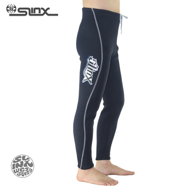 SLINX 1309 3mm Neoprene Men Fleece Lining Warm Pants Scuba Diving Trousers Spearfishing Triathlon Snorkeling Swimwear Wetsuit slinx 1106 5mm neoprene scuba diving fleece lining wetsuit snorkeling surfing swimwear jumpsuit triathlon microvillus jellyfish