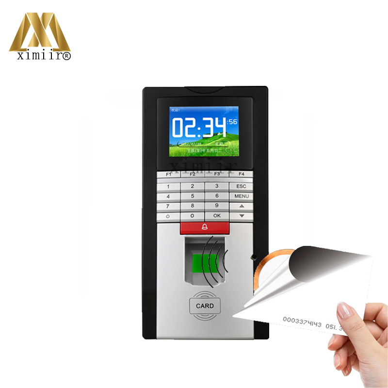 Realand TCP/IP Fingerprint Time Attendance And Access Control F20 Fingerprint Access Controller With 125KHZ RFID Card Reader rfid card access control system tcp ip card time attendance and access control weigand card reader 4 doors access controller