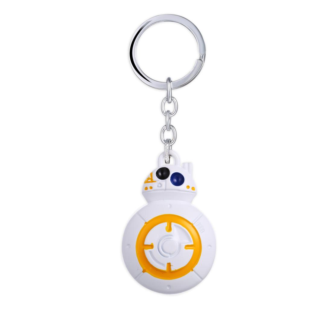 MS JEWELS Fans Gifts Star Wars Keychain Force Awakens BB8 BB-8 R2D2 Droid Robot Metal Key Rings For Gift Chaveiro Key Chain