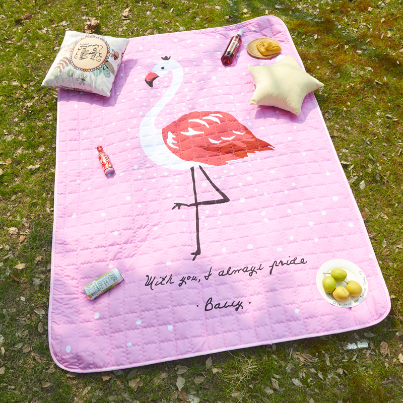 Mignon animaux motif imperméable à l'eau bébé jouer tapis multi-fonction couverture pique-nique tapis Style nordique enfants chambre décor à la maison Photo accessoires - 4