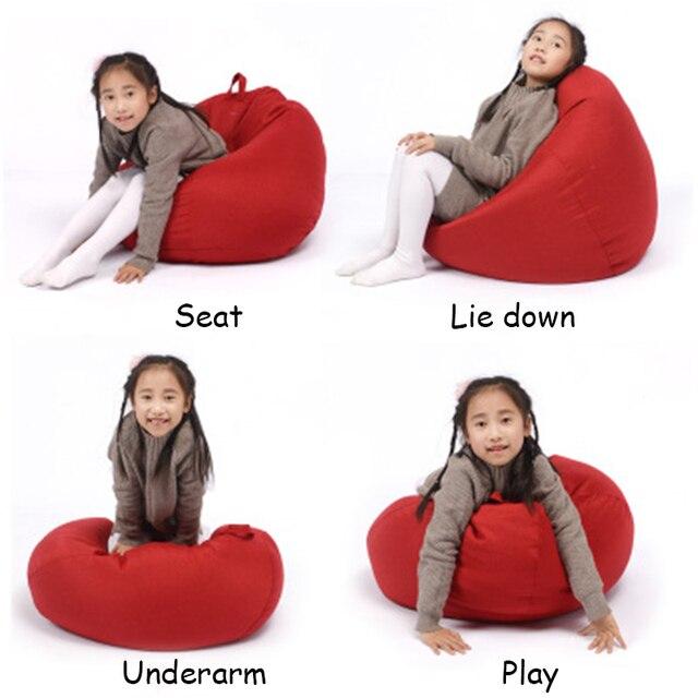 Crianças do Saco de Feijão Capa Assento Pufe Puff Mobília da Sala de estar Sofá Espreguiçadeira Cadeiras ao ar livre sem Enchimento Beanbag Preguiçoso Camas