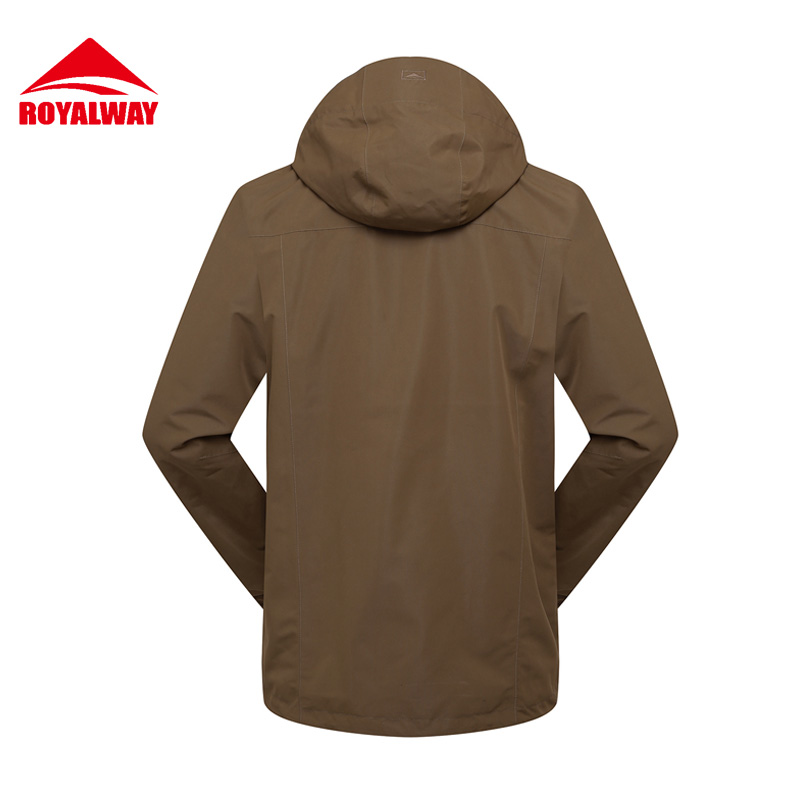 ROYALWAY 2Pieces Men Winter Outdoor Hiking Jackets Tech Softshell  Jacket Waterproof Windproof  Camping J#RFOM4482G
