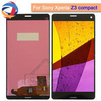 4.6Screen For Sony Xperia Z3 Compact LCD Touch Display Digitizer with Frame D5803 D5833 Assembly for Sony z3 mini Replacement