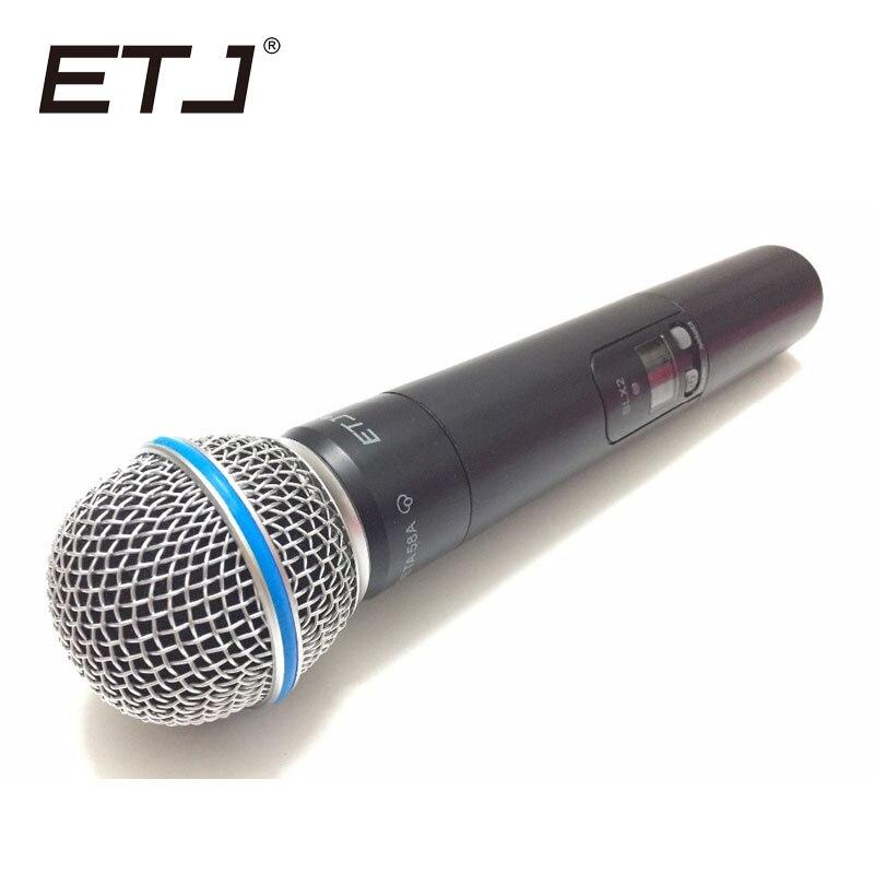 Top Quality SLX SLX24 BETA58 SM58 UHF Professional Wireless Microphone System Super Cardioid BETA Handheld Microfone