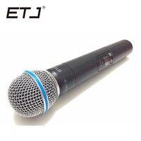 Qualidade superior slx slx24 beta58/sm58 uhf profissional sistema de microfone sem fio super cardióide beta handheld microfone mic