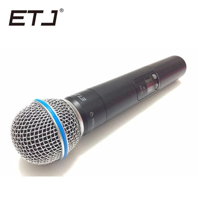 คุณภาพสูงSLX SLX24 BETA58/SM58 UHFระบบไมโครโฟนไร้สายระดับมืออาชีพSuper Cardioid BETAมือถือไมโครโฟนMic