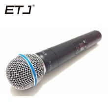 أعلى جودة SLX SLX24 BETA58/SM58 UHF ميكروفون لاسلكي مهني نظام سوبر القلب بيتا يده ميكروفون هيئة التصنيع العسكري