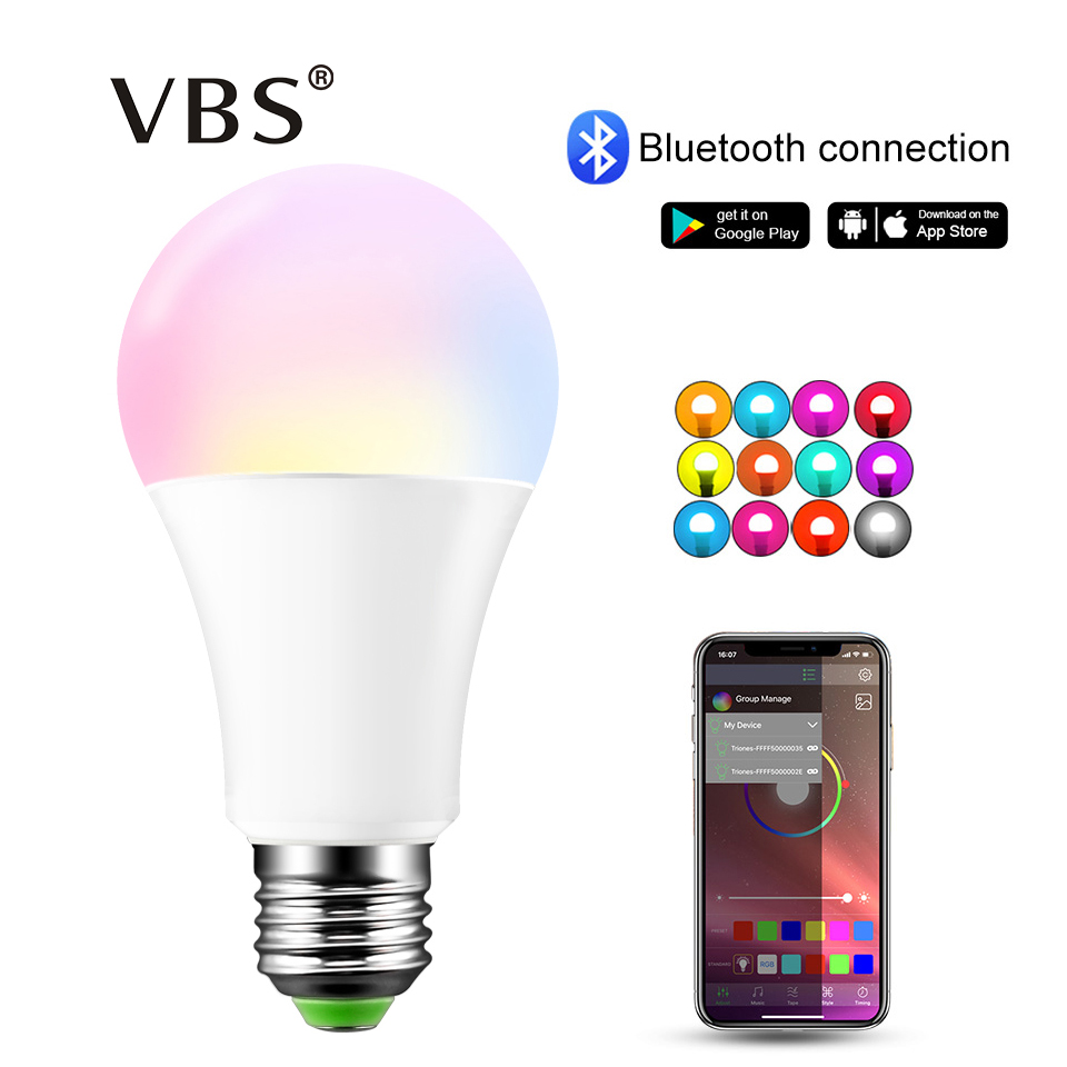 Ip44 Smart Rgb Bulb Bluetooth Led Lamp 15w Rgbw Rgbww E27