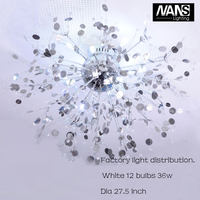 NANS Modern G4 LED Crystal Ceiling Lights home decoration For Living Room luminarias Ceiling Lamp Fixture For Bedroom Lamp