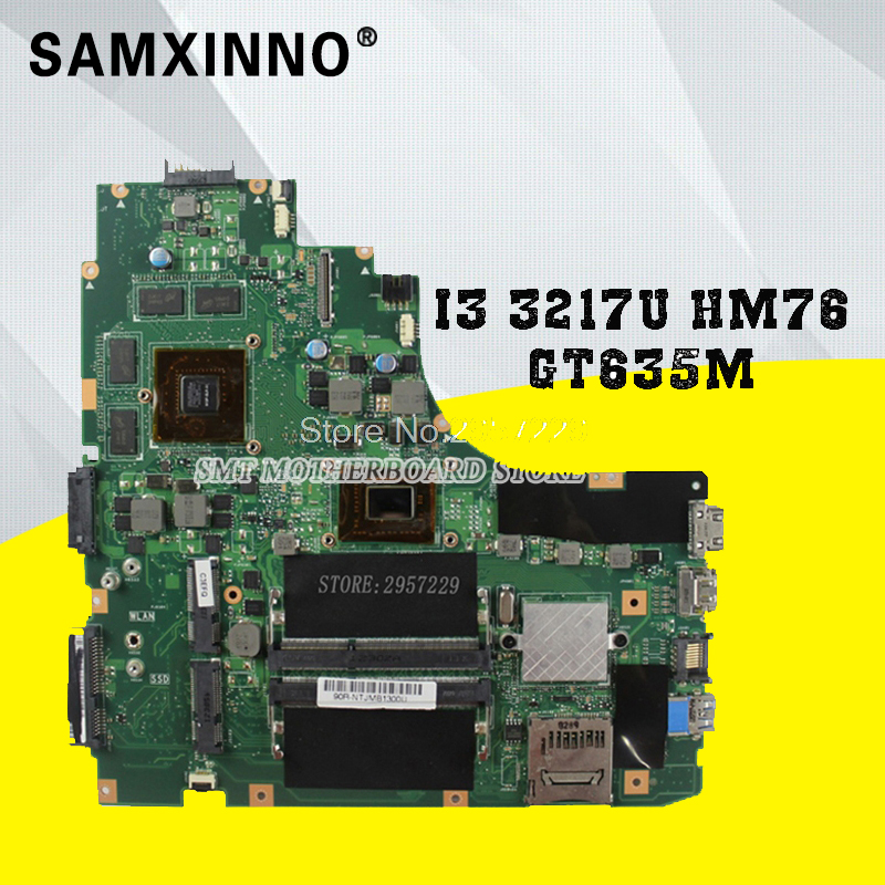 S46C A46C k46C A46CM k46CM Laptop Motherboard K46CM rev2.0 Mainboard With i3-3217U GT635M 2G RAM HM76 Fully Teste S-6 for asus laptop motherboard k46cm a46c k46ca mainboard rev2 0 integrated with cpu i3 3217u on board