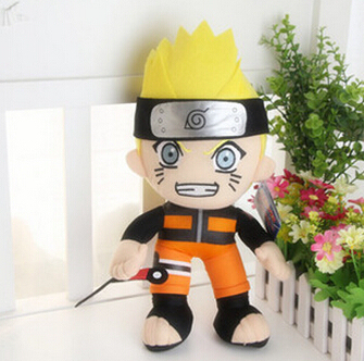 30cm Plush Anime Naruto Uzumaki Naruto Plush Toy Cosplay Costume Soft Stuffed cute Doll Gift Free Shipping