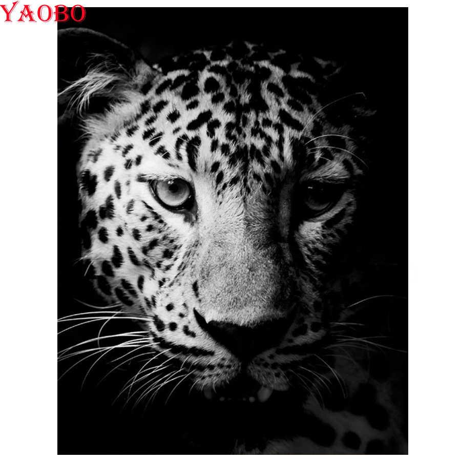 Полностью квадратная Алмазная вышивка 5d diy алмазная живопись черный и белый