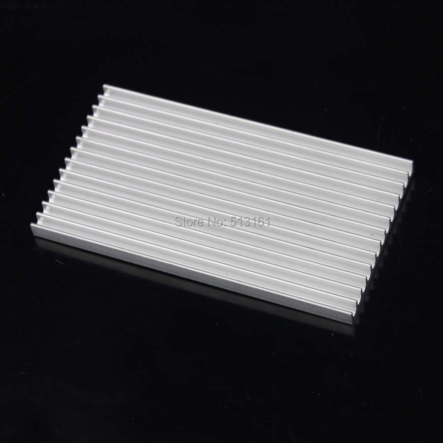 1 Piece 100x55x6mm Aluminum HeatSink Heat Sink Radiator for Electronic Chip LED RAM Cooler Cooling 20pcs lot 22x22x10mm aluminum heatsink for chip cpu gpu vga ram ic led heat sink radiator cooler cooling