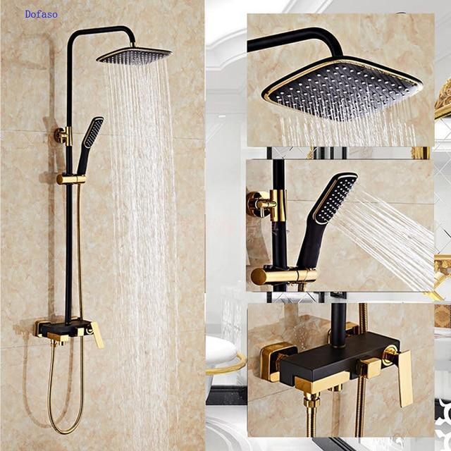 Shower From Bath Taps dofaso luxury black bath taps shower faucet gold and black bath