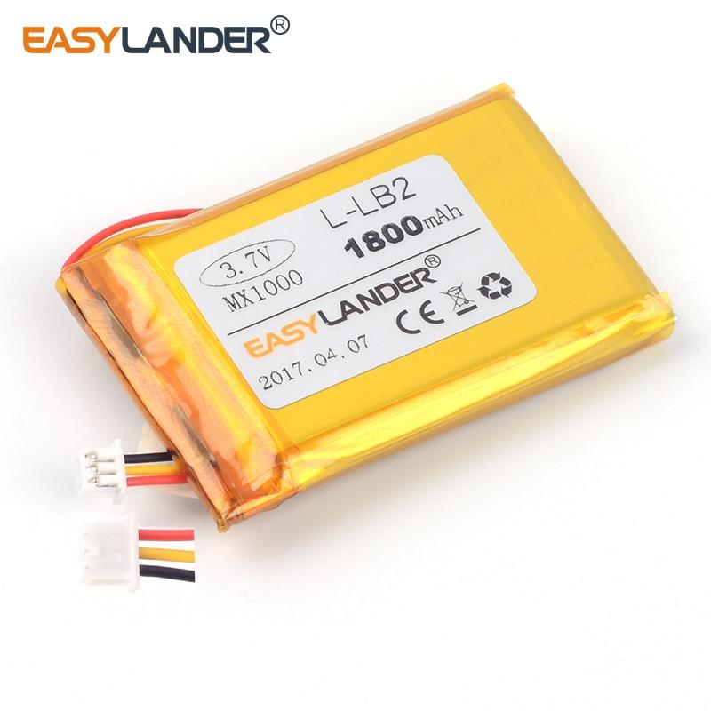 Easylander L-lb2 Reemplazo 3,7 V 1800 Mah Batería Recargable Li-ion De Polímero De Litio Para Logitech Mx1000 M-rag97 Juguetes De Ratón Inalámbricos