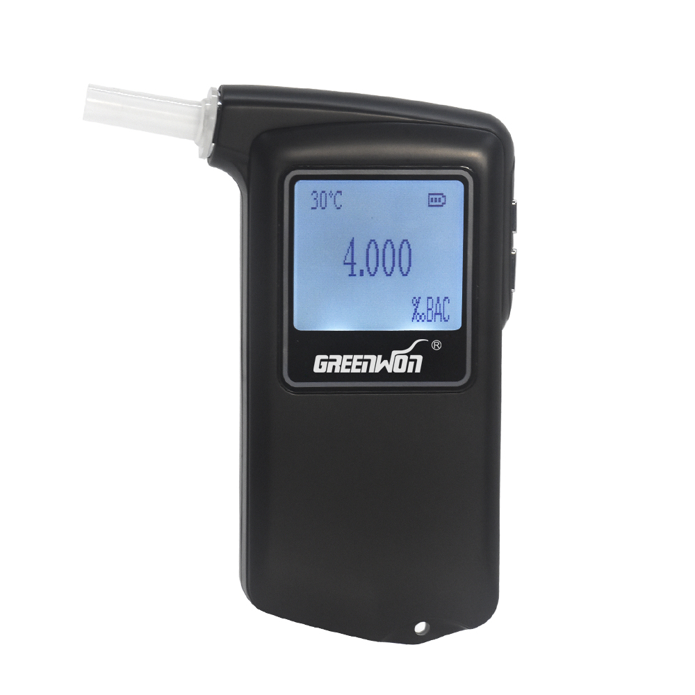 2019 Newest high accuracy Prefessional Police Digital Fuel cell sensor breath alcohol tester Breathalyzer AT 868F