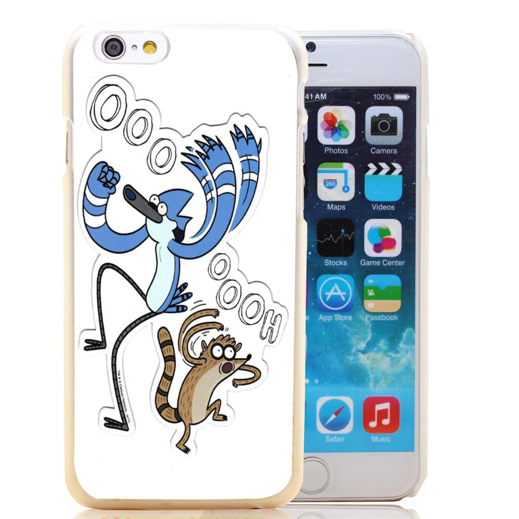 1406-HOQE Regular Show Transparent Hard Case Cover for iPhone 6 6s plus 5 5s 5c 4 4s Phone Cases